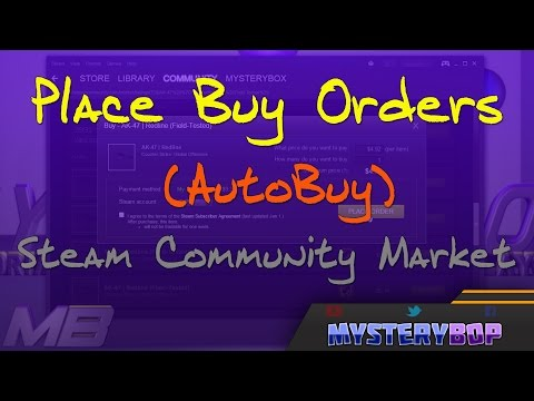 How To: Place Buy Orders (AUTOBUY) in the Steam Market