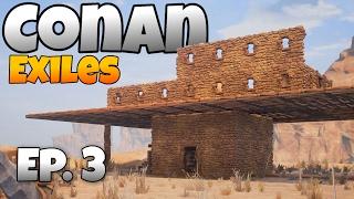 Conan Exiles - Ep. 3 -  Epic Base Beginning and Blacksmith! - Let