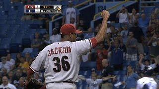 ARI@TB: Jackson hurls the second D-backs no-hitter