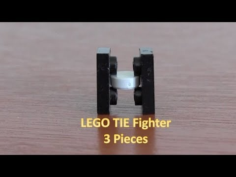 How To Build A LEGO Star Wars Mini TIE Fighter 3 Pieces