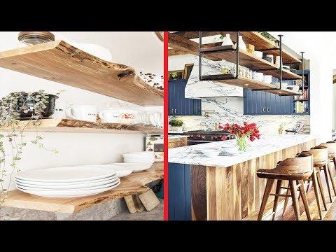Rustic Kitchen Storage & Creative Shelves Ideas