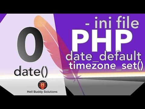 PHP date_default_timezone_set()