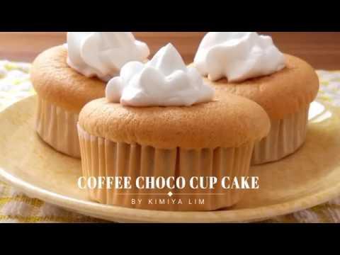 Soft Coffee Sponge Cupcake With Chocolate Filling