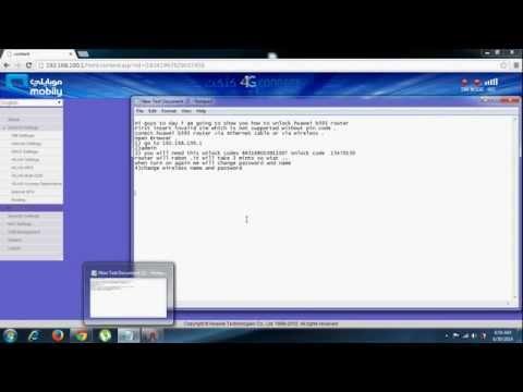 B593 unlock and change wireless password