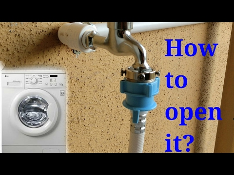 How to open front load washing machine inlet pipe