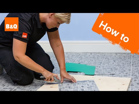 How to lay vinyl tiles & carpet tiles part 3: tiling around obstacles