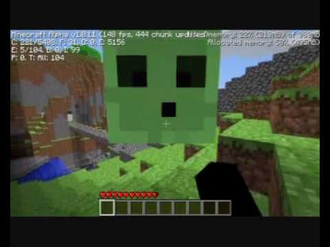 Minecraft Alpha - Slimes - Damage and Sizes