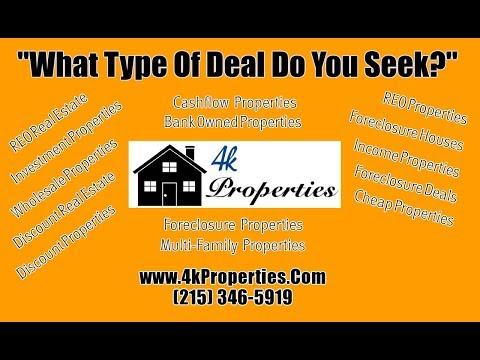 REO Properties Philadelphia PA – 215-558-5233 – Investment Properties Philadelphia PA