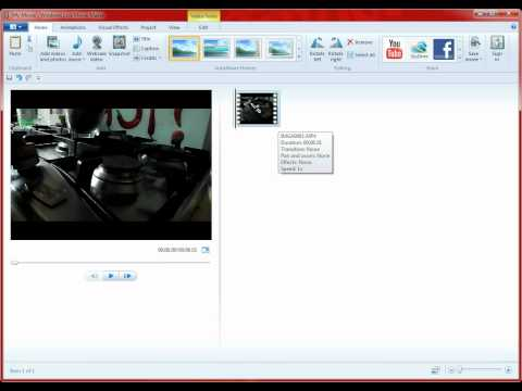 How to make your home videos slow motion on Windows Movie Maker 7