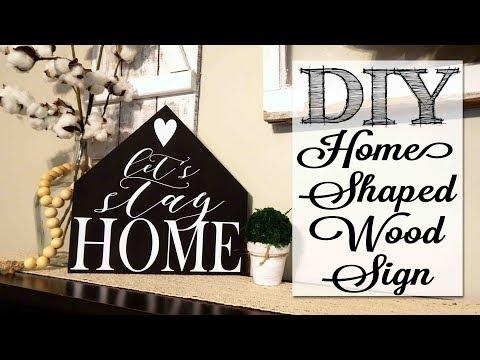 DIY Home Shaped Wood Sign