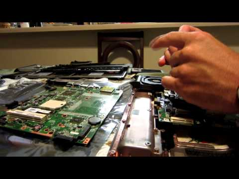 HP Laptop Motherboard Processor swap install DV7 3160us