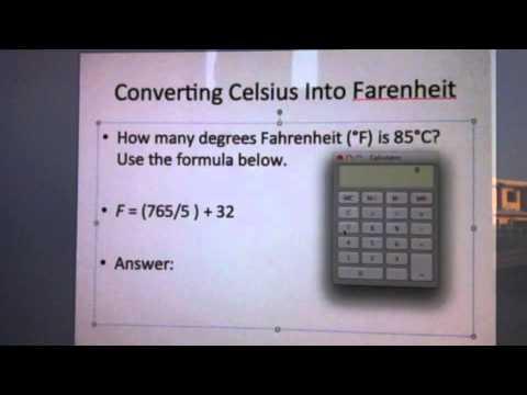 Converting Celsius Into Fahrenheit
