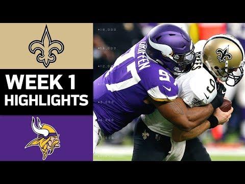 Saints vs. Vikings | NFL Week 1 Game Highlights