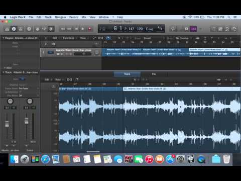 How to chop samples in logic pro x..  the hood way