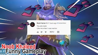 Nub Khaleed Reupload because wrong upload Mobile Legends Funny Gameplay
