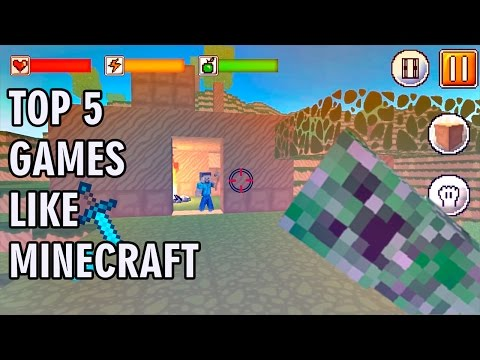 TOP 5 GAMES LIKE MINECRAFT | IOS & Android Gameplay Video