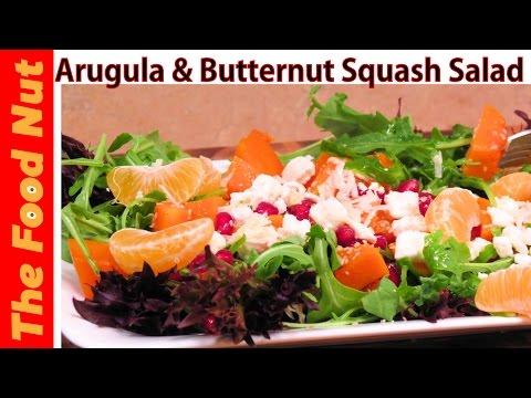 Arugula Salad Recipe With Butternut Squash, Feta, Fruits And Simple Dressing - Rugula | The Food Nut