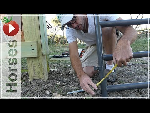 Installing the Horse Fence Gate! - We're getting so close to...