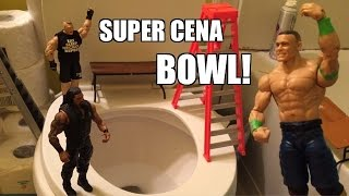 GTS WRESTLING: Super CENA Bowl 2015! WWE Figure Matches Animation PPV Event! Mattel Elites!