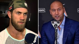 Bryce Harper PISSES OFF Marlins Manager for Criticizing Derek Jeter