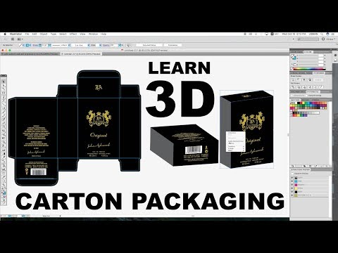 3D Effect on Illustrator | Carton Packaging