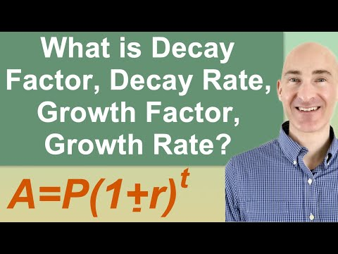 What is Decay Factor, Decay Rate, Growth Factor, Growth Rate?