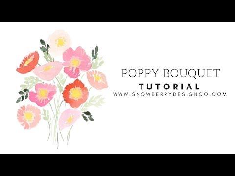 Poppy Bouquet   TUTORIAL