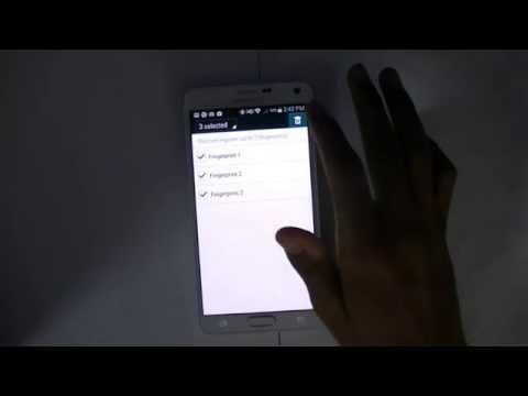 New Samsung Galaxy Note 4 - Finger Print Unlock Tutorial