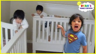 Twins Toddlers Emma and Kate Escape from Cribs!!!!
