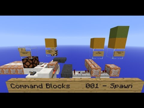 Command Blocks 001 - Teleport from Spawn to Lobby