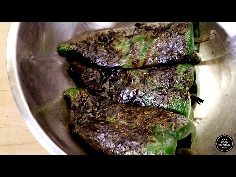 How to Roast and Peel Poblano Peppers