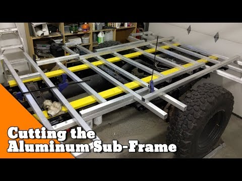 Using a chop saw to cut Aluminum - How to build an Overlander