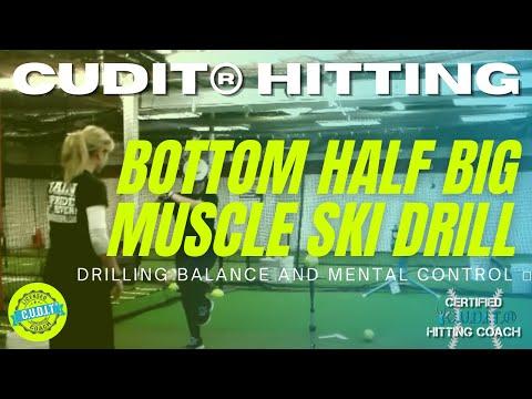 C.U.D.I.T.® CONCENTRIC HITTING: BEST SOFTBALL BASEBALL BATTING DRILL FOR WEIGHT TRANSFER