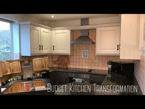 How to Paint Kitchen Cabinets | Chalk Paint | Budget Kitchen Transformation
