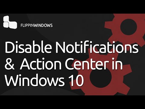 Disable Notifications & Action Center in Windows 10