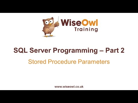 SQL Server Programming Part 2 - Stored Procedure Parameters