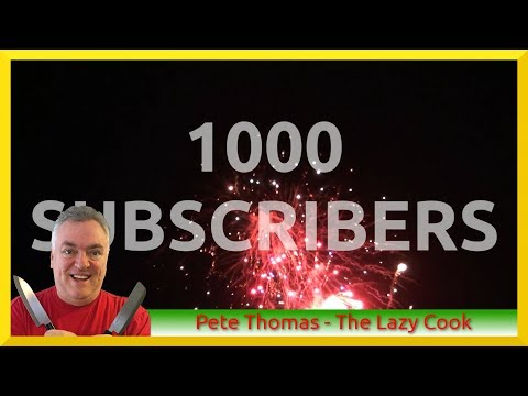 1000 SUBSCRIBERS - THANK YOU!