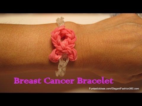 Awareness Pink Ribbon Bracelet - How to Rainbow Loom