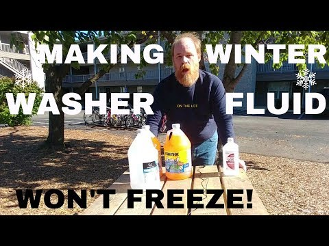 How to make winter washer fluid that won't freeze!