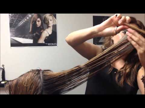 A long layered haircut by Celina