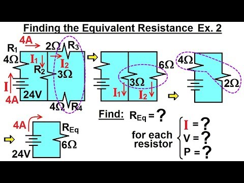 Physics - E&M: Ch 41.3 Ohm's Law & Resistor Circuit Understood (18 of 42) Equivalent Resistance Ex 2