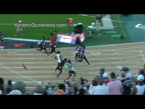 Justin Gatlin 9.95. Mens 100m final USATF 6/23/17 Sacramento California
