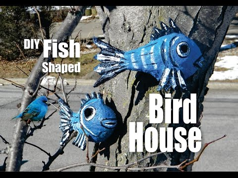 How to make a Fish Shaped Bird house from Outdoor Paper Mache