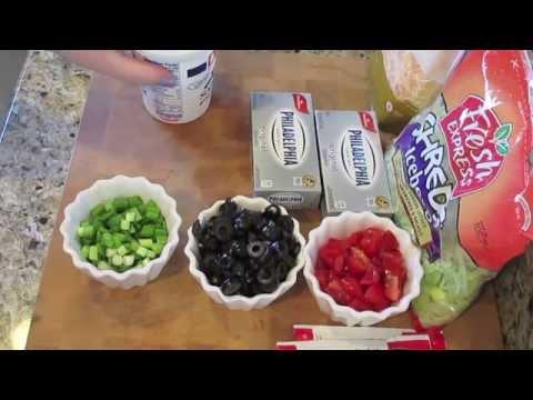 Easy taco dip recipe!