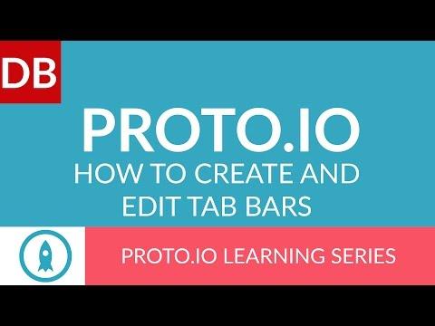 Create and Edit Tab Bars | Proto.io Prototyping Tool