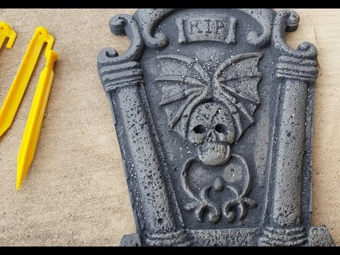 How to make sure your tombstones don't blow away!