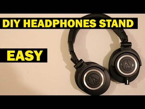 How to Make a Headphone Stand in 60 seconds - DIY Headphone Stand - Gear on a Budget
