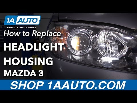 How to Replace Headlights 03-09 Mazda 3