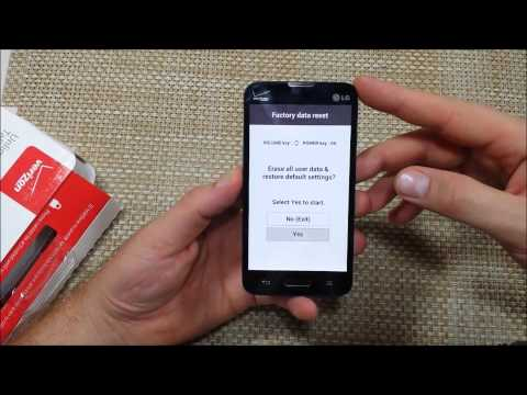 Verizon LG Optimus Exceed 2 How to do a Alternate Factory data reset