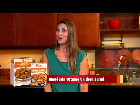 Mandarin Orange Chicken Salad with Orange Dijon Sauce